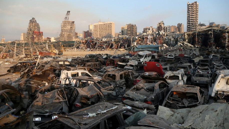 Eksplozja była odczuwalna w całym mieście /IBRAHIM DIRANI /PAP/EPA