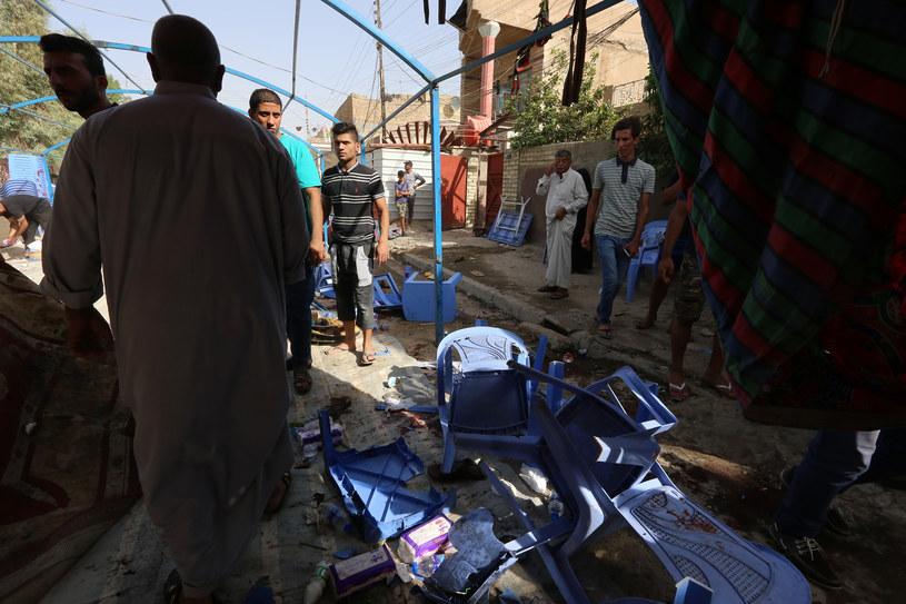 Eksplozja miała miejsce w namiocie ustawionym na zatłoczonym placu targowym / Credit SABAH ARAR / AFP  /AFP