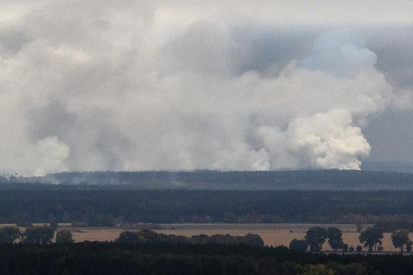 Eksplozja miała miejsce w składzie amunicji /REUTERS/Vladyslav Musiienko/Pool /FORUM