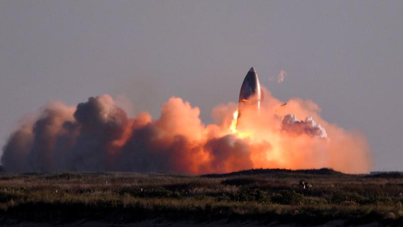 Eksplozja rakiety Starship w Teksasie /Gene Blevins/Reuters /Agencja FORUM