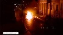 Eksplozja samochodu w Irlandii Północnej. Policja opublikowała nagranie z momentu wybuchu