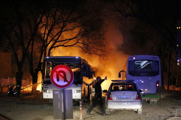 Eksplozja w Ankarze, zdj, z 17.02.2016 /STRINGER / CIHAN NEWS AGENCY / AFP /AFP
