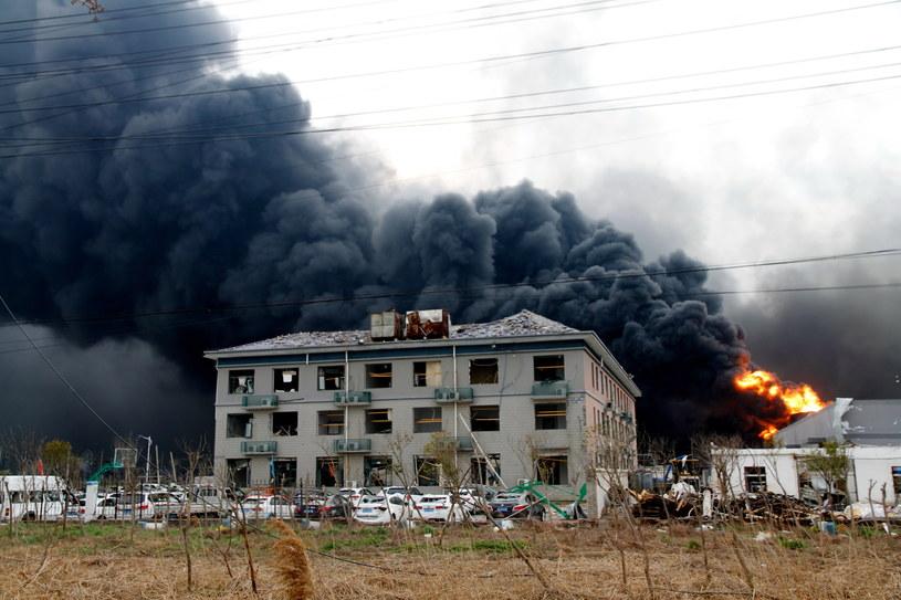 Eksplozja w fabryce chemicznej /EPA/Stringer /PAP/EPA