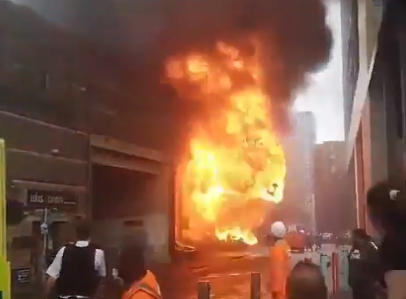 Eksplozja w Londynie /Fire Brigade London /Twitter