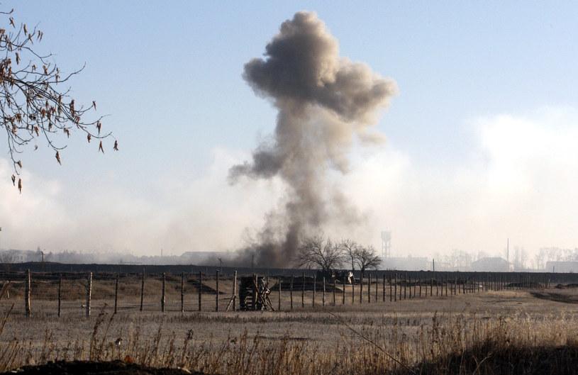 Eksplozja w Ługańsku /AFP