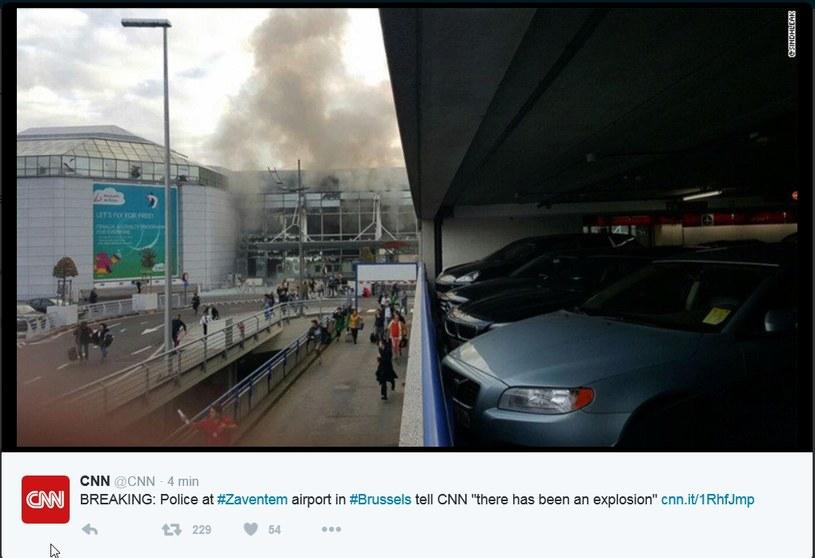 Eksplozje w Brukseli /Twitter