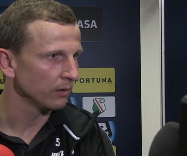 Ekstraklasa.. Maciej Dąbrowski z Zagłębia po meczu z Legią (1-0). Wideo