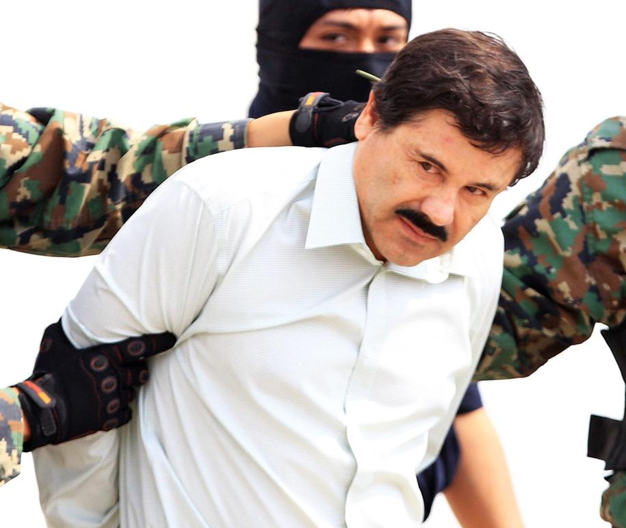 """""""El Chapo"""" na zdjęciu z 2017 roku /MARIO GUZMAN    /PAP/EPA"""