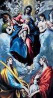 El Greco, Madonna z Dzieciątkiem, św. Martyną i św. Agnieszką, 1597-99 r. /Encyklopedia Internautica