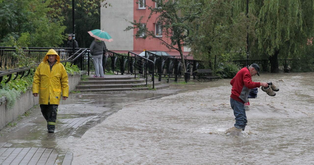 Elbląg podtopiony po ulewnym deszczu
