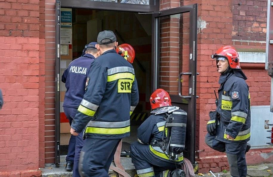Elbląska policja bada przyczyny pożaru szkoły podstawowej /Policja