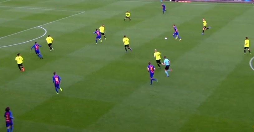 Eldense (żółte koszulki) w starciu z rezerwami Barcelony /internet /