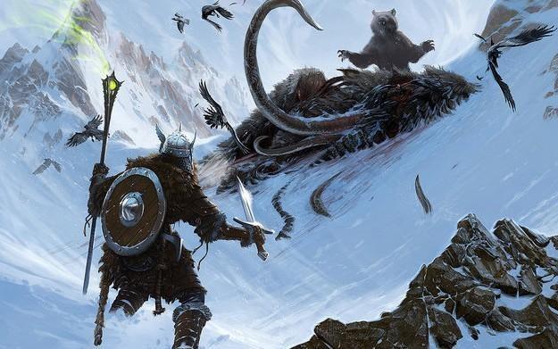 Elder Scrolls V: Skyrim - motyw graficzny /Informacja prasowa