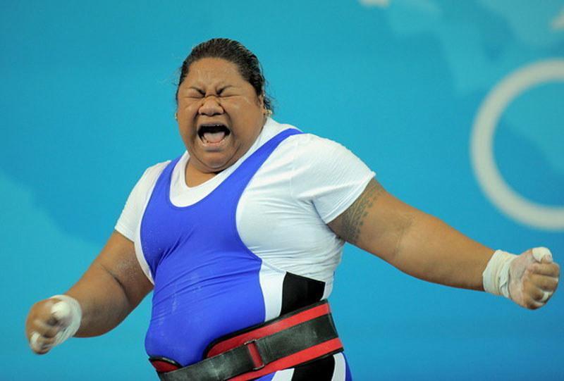 Ele Opeloge podczas igrzysk w Pekinie /AFP