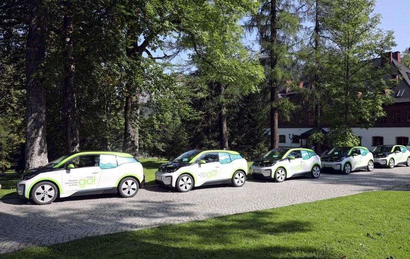 Elektryczne BMW i3 w Zakopanem / Grzegorz Momot    /PAP