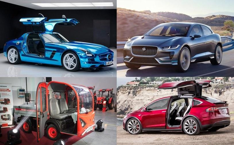 Elektryczne samochody Mercedesa, Jaguara, Ursusa oraz Tesli /