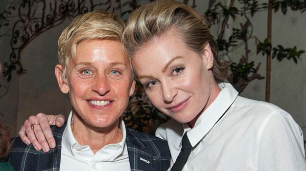 Elen DeGeneres i Portia De Rossi /Valerie Macon /Getty Images