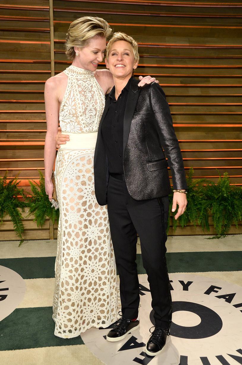 Elen DeGeneres i Portia De Rossi /Pascal Le Segretain /Getty Images