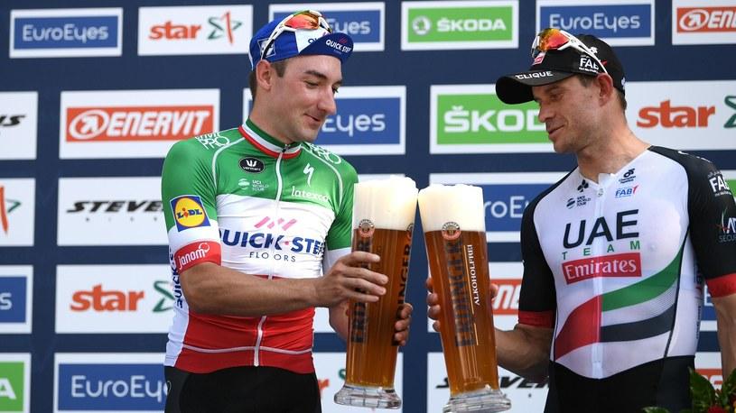 Elia Viviani (z lewej) i Alexander Kristoff /Getty Images