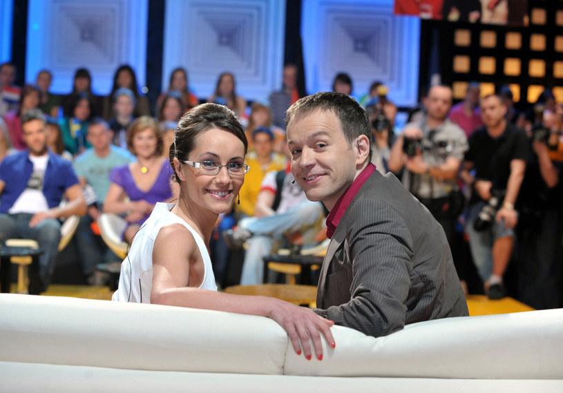 "Elisabeth Duda i Steffen Möller na planie programu ""Europa da się lubić"" /Piotr Fotek /Reporter"