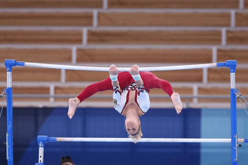 Elisabeth Seitz jest jedną z niemieckich gimnastyczek, które swoim strojem sprzeciwiły się seksizmowi w sporcie /East News