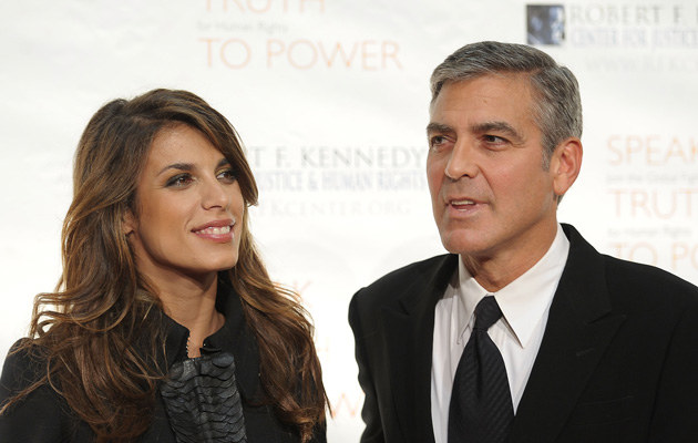 Elisabetta Canalis i George Clooney, fot.Michael Loccisano   /Getty Images/Flash Press Media