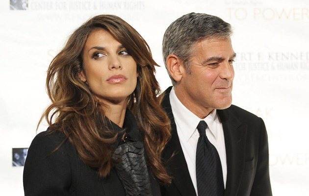 Elisabetta Canalis i George Clooney, fot.Michael Loccisano  /Getty Images/Flash Press Media