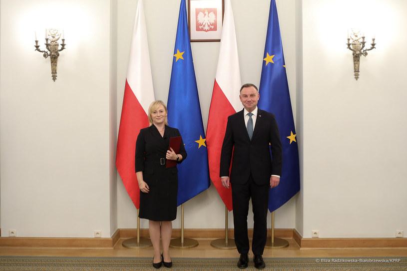 Eliza Radzikowska-Białobrzewska  i Andrzej Duda /Eliza Radzikowska-Białobrzewska /materiały prasowe