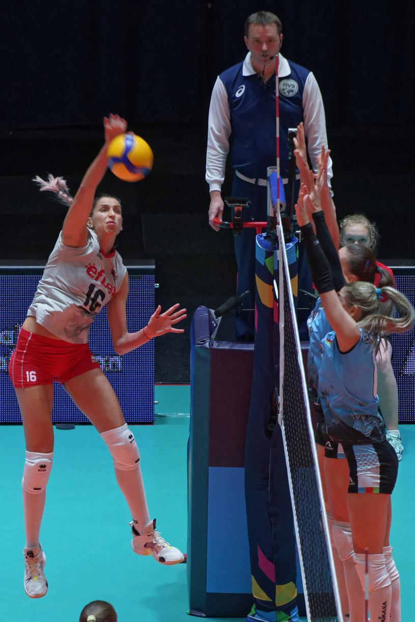 Eliza Wasiliewa w meczu z Azerbejdżanem /www.cev.eu