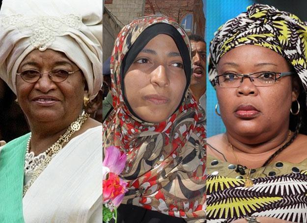 Ellen Johnson-Sirleaf, Leymah Gbowee, Tawakkul Karman /AFP