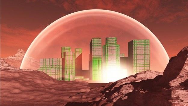 Elon Musk chce zbudować mieszkalne osiedle na Marsie /materiały prasowe