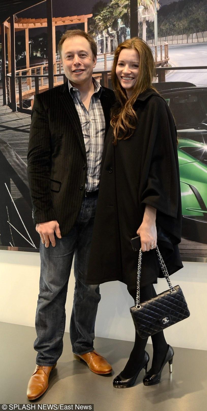 Elon Musk i jego żona - Tolulah Riley /East News