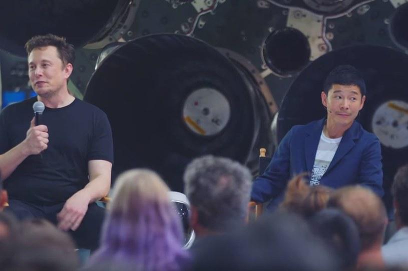 Elon Musk i Yusaku Maezawa /YouTube
