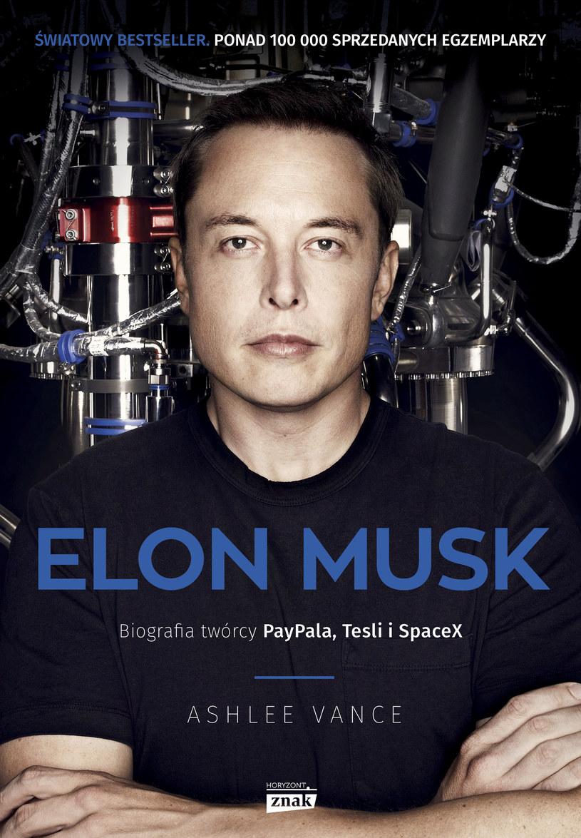Elon Musk - okładka książki /materiały prasowe