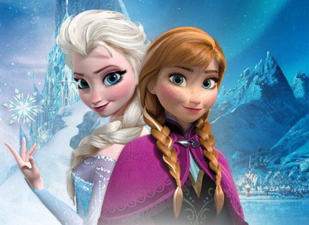 """Elsa i Anna na plakacie """"Krainy Lodu"""" /"""