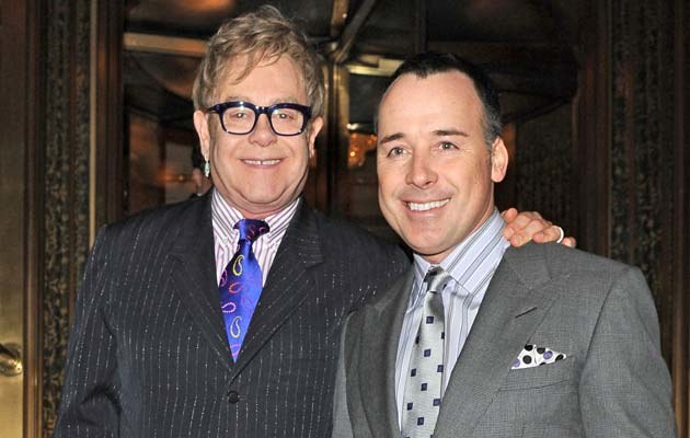 Elton John i David Furnish   /Splashnews