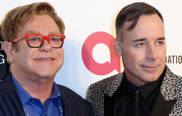Elton John i David Furnish /Frederick M. Brown /Getty Images