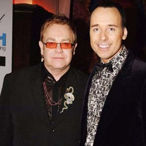 Elton John i David Furnish /arch. AFP