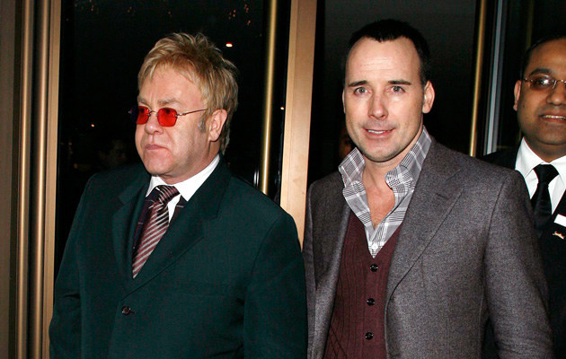 Elton John i jego życiowy partner David Furnish   /Splashnews