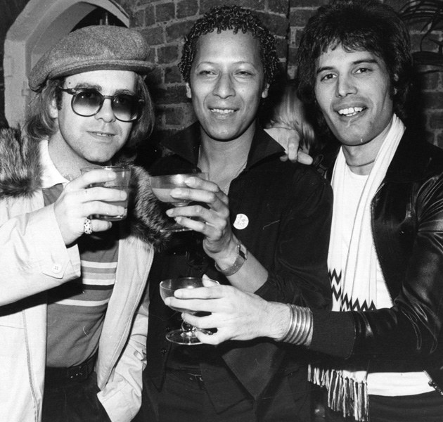 Elton John, Peter Straker, Freddie Mercury  /Getty Images