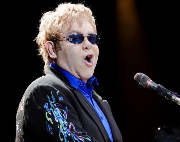 Elton John podczas koncertu w Warszawie /fot. Bartosz Nowicki