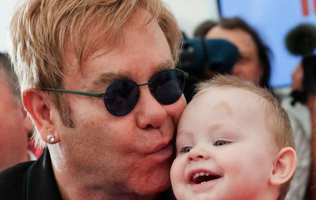 Elton John z Lwem  /Agencja FORUM