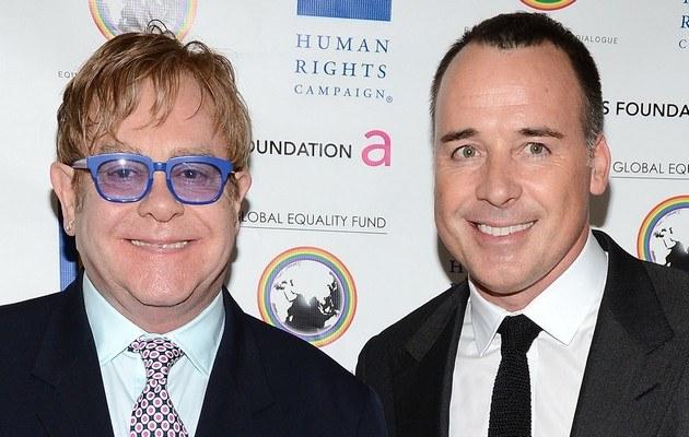 Elton John z partnerem /Jason Merritt /Getty Images