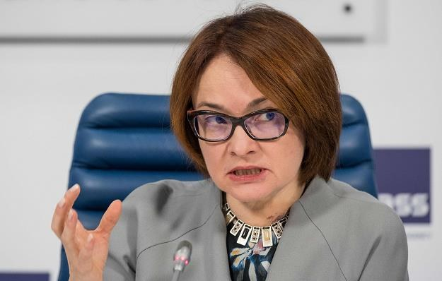 Elvira Nabiullina, szefowa banku centralnego zapowiada interwencję /AFP