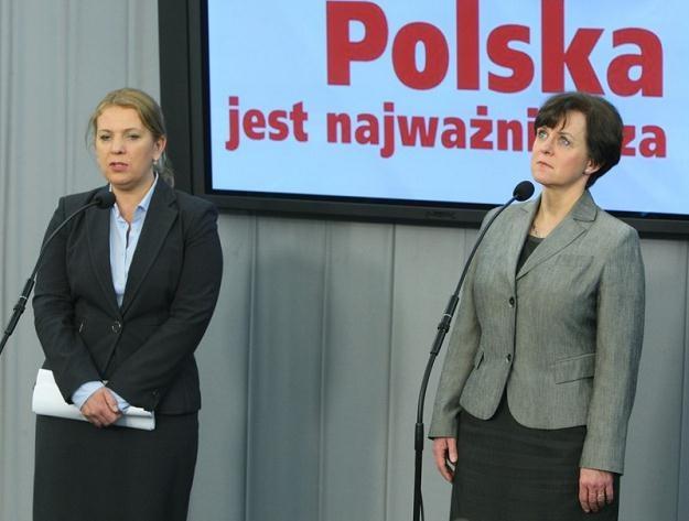 Elżbieta Jakubiak i Joanna Kluzik-Rostkowska / fot. S. Kowalczuk /East News