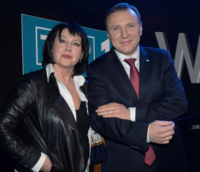 Elżbieta Jaworowicz i Jacek Kurski /TVP /Agencja FORUM