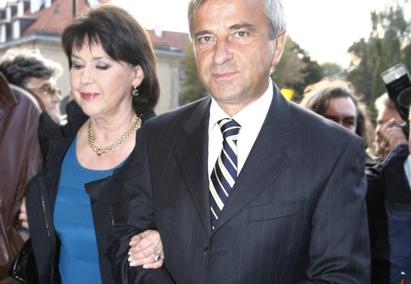 Elżbieta Jaworowicz z mężem /Krzysztof Jarosz /Agencja FORUM