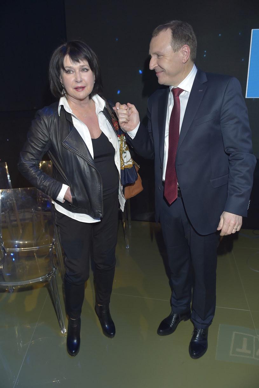 Elżbieta Jaworowicz z prezesem TVP Jackiem Kurskim /AKPA