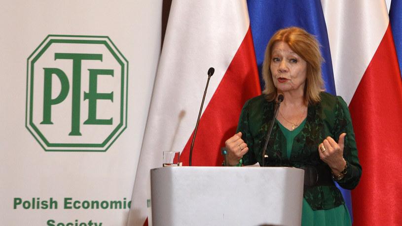 Elżbieta Mączyńska, profesor SGH i prezes Polskiego Towarzystwa Ekonomicznego. /Reporter
