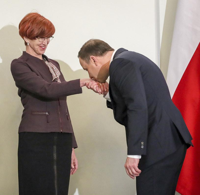 Elżbieta Rafalska, Andrzej Duda /Andrzej Iwańczuk /Reporter